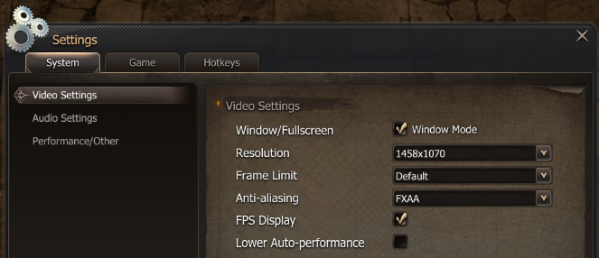 Resolution window
