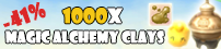 1000x Magic Alchemy Clays -40%!
