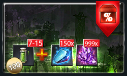 7-15 Safeguards or 100 Safeguards MB + 150 Enhancement Booster + 999x Vivid Crystal
