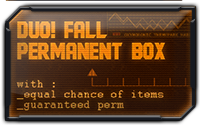 Fall Duo Permanent Mystery Box