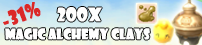 200x Magic Alchemy Clays
