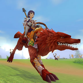 Wolfrage Combat Mount, +75% Speed, 3 day