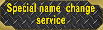 Special Name Change Service